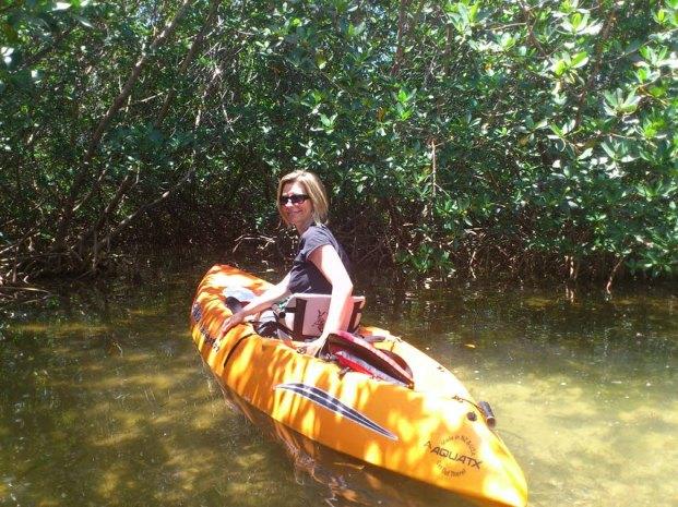 Kayaking through the mangroves in the Florida Keys