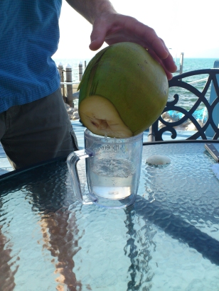 pouring coconut water3