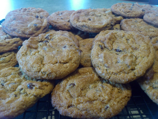 Gluten-free & vegan chocolate chip cookies